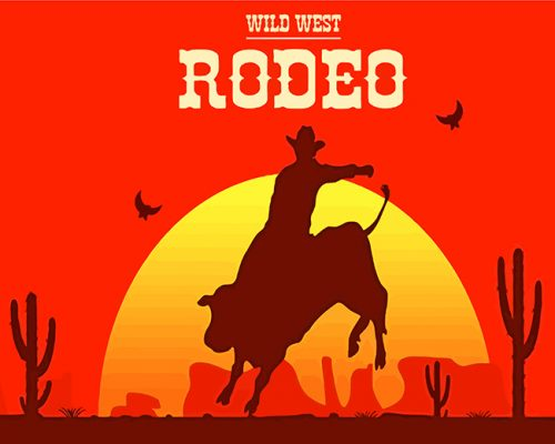 rodeo-cow-boy-paint-by-numbers