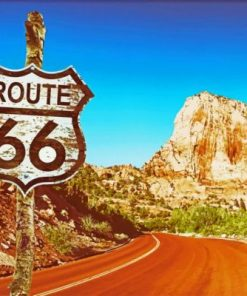 Route 66 In Arizona Paint by numbers
