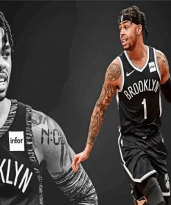 russel-dark-Brooklyn-Nets-paint-by-number