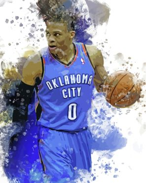 Russell Westbrook Art Paint by numbers