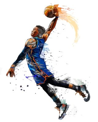 Russell Westbrook Basketball Paint by numbers