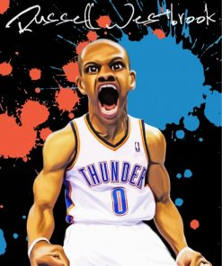 Russell Westbrook Caricature Paint by numbers