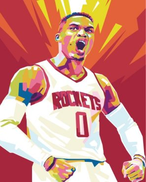Russell Westbrook Pop Art Paint by numbers