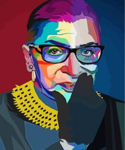 ruth-bader-pop-art-paint-by-numbers