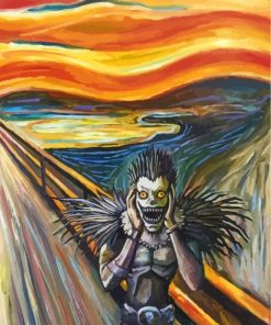 ryuk-the-scream-paint-by-numbers