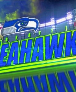 Seahawks Logo Paint by numbers