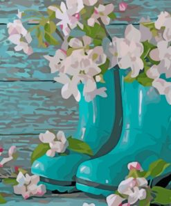 shoes-and-flowers-paint-by-number
