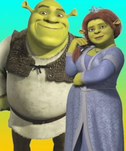shrek-and-fiona-paint-by-number