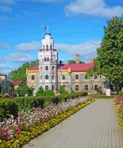 sigulda-castle-latvia-landscape-paint-by-numbers