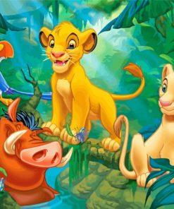Simba Nala Timon Pumbaa Paint by numbers