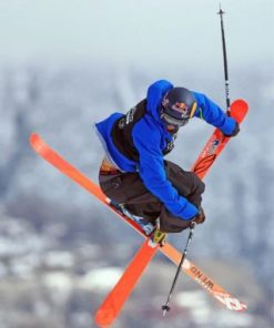 Skiing Sport Paint by numbers