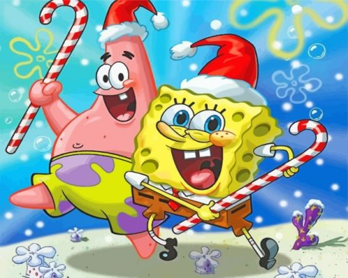 spongbob-and-patrick-christmas-paint-by-numbers