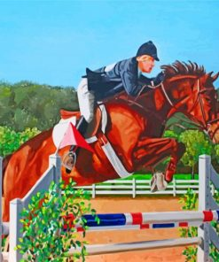 Steeplechase Horse Race Paint by numbers