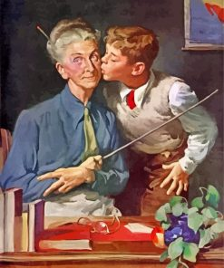 student-kissing-his-teacher-paint-by-number