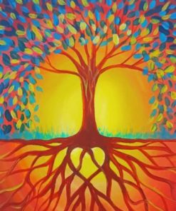 Sunset Tree Of Life paint by numbers