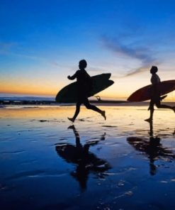 surfers-silhouette-paint-by-numbers