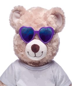 Teddy Bear With Sunglasses Paint by numbers