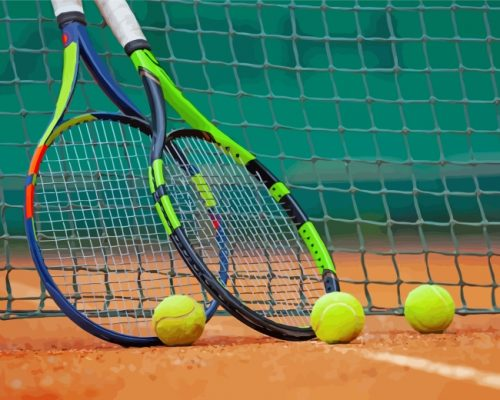 Tennis Game Equipment Paint by numbers