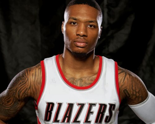 The Basketball Player Damian Lillard Paint by numbers