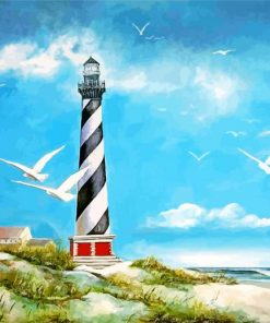 The Cape Hatteras Lighthouse Paint by numbers