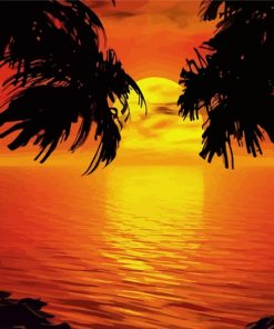 tropical sunset paint by numbers