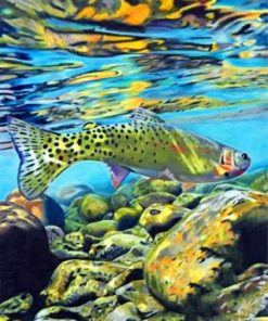 Trout Fish Paint by numbers