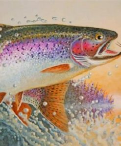 Rainbow Trout Fish Paint by numbers
