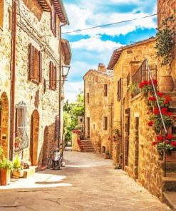 Tuscany Village Italy paint by numbers