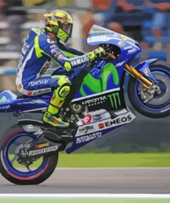 Valentino Rossi Motorcycle Driver Paint by numbers