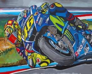 Valentino Rossi Driver Paint by numbers
