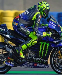 Valentino Rossi Le Mans Paint by numbers
