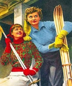 Vintage Women Paint by numbers