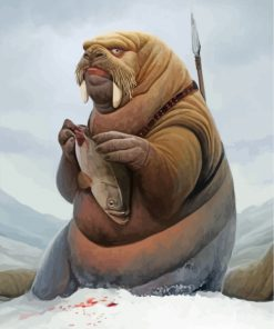 walrus-trying-to-eat-a-fish-paint-by-numbers