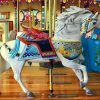 White Carousel Horse Paint by numbers
