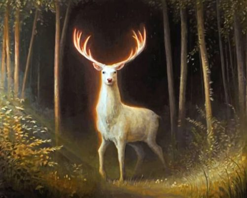 white-stag-paint-by-number