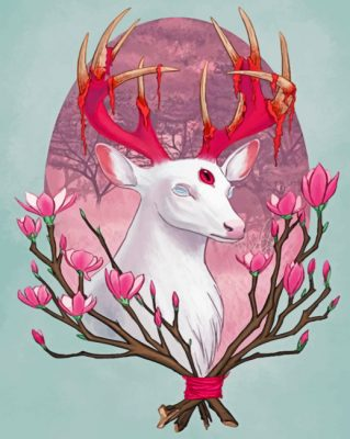 white-stag-paint-by-numbers