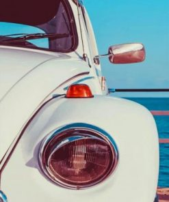 White VW Car Paint by numbers