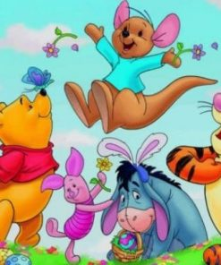 Winnie And His Friends paint by numbers