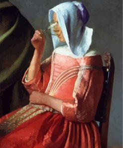 woman-drinking-Johannes-Vermeer-paint-by-numbers