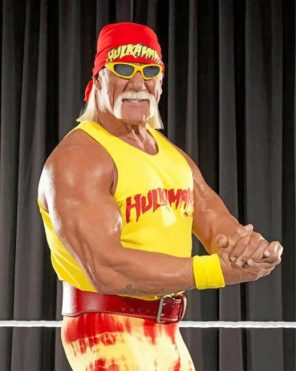 wrestler-hulk-hogan-paint-by-numbers