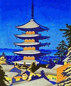 Yasaka Shrine Japane Paint by numbers