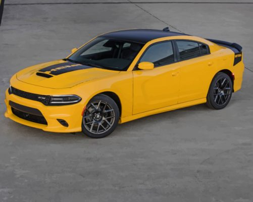 yellow-dodge-charger-car-paint-by-numbers