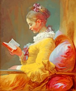 Young Girl Reading Paint by numbers