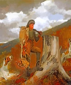 A Huntsman And Dogs Winslow Homer paint by number