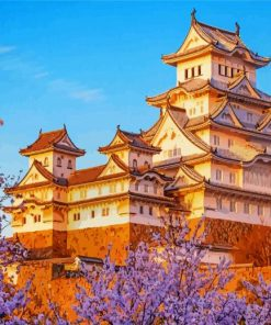 Aesthetic Himeji Castle Paint by numbers