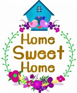 Aesthetic Home Sweet Home paint by number