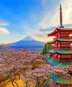Arakurayama Sengen Blossom paint by numbers