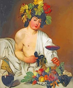 Bacchus Caravaggio paint by number
