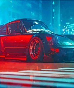 Black RWB Porsche paint by numbers