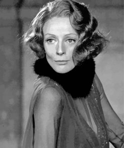 Black and White Maggie Smith paint by number